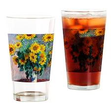 NC Monet Sunflowers Drinking Glass