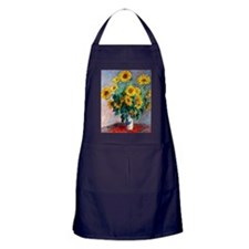 NC Monet Sunflowers Apron (dark)