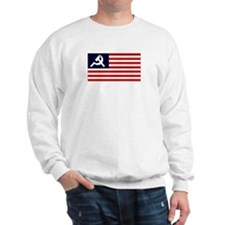Communist US Flag Sweatshirt