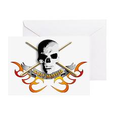 Drummer skull C Greeting Card