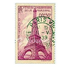 Vintage Stamp Postcards (Package of 8)