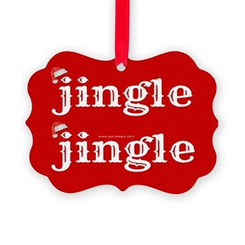 Santa Jingle Picture Ornament