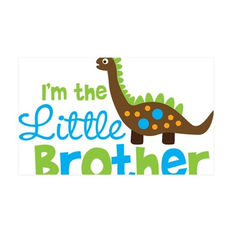 DinosaurImTheLittleBrother 35x21 Wall Decal