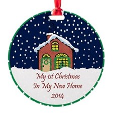2014 My 1St Christmas Cute Cottage Ornament