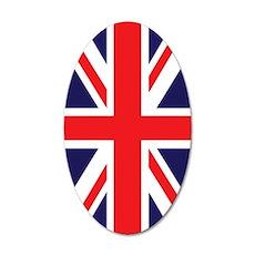 Union Jack 35x21 Oval Wall Decal