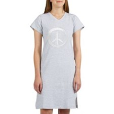 PEACE Wag final WHT Women's Nightshirt