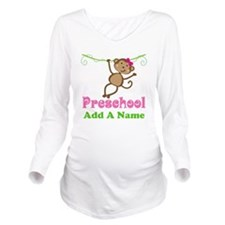 Personalized Preschool Long Sleeve Maternity T-Shi