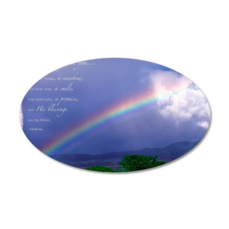 Rainbow Blessing 35x21 Oval Wall Decal