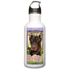 EasterEggCookiesDoberm Water Bottle