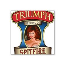 "spitfire_ale_label_by_plane Square Sticker 3"" x 3"""
