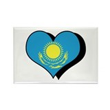 I Love Kazakhstan Rectangle Magnet (100 pack)