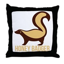 Honey Badger Throw Pillow