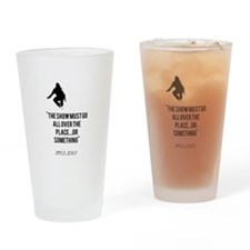 Cory Monteith Quote Drinking Glass