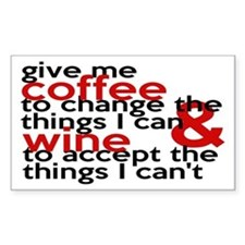 Give Me Coffee And Wine Humor Decal