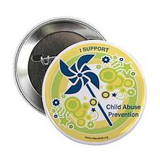 """Child Abuse Prevention Yello 2.25"""" Button"""