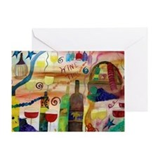 WINE TIME Greeting Card