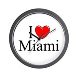 """I Love Miami"" Wall Clock"