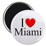 """I Love Miami"" Magnet"