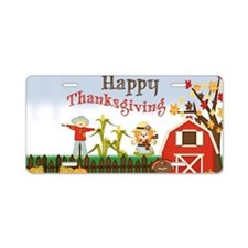 Barn Happy Thanksgiving Aluminum License Plate
