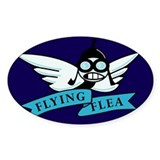FlyingFlea Oval Decal
