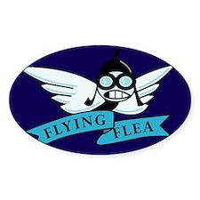 FlyingFlea Oval Decal