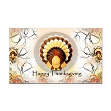 Vintage Turkey Thanksgiving,  Rectangle Car Magnet