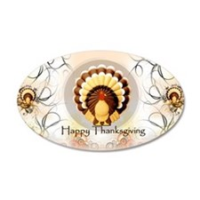 Vintage Turkey Thanksgiving, Wall Decal
