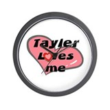 tayler loves me  Wall Clock