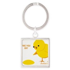 are you ok2 Square Keychain