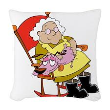 COUR4C21 Woven Throw Pillow