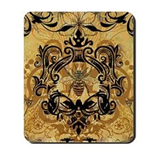 BeeFloralGold460ip Mousepad