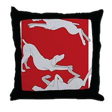 3WeimsRedTrans Throw Pillow