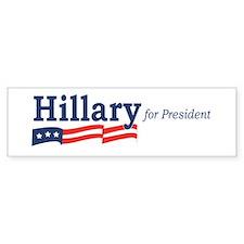 Hillary Clinton stripes Bumper Bumper Sticker