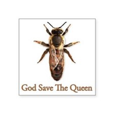 "God Save the Queen Square Sticker 3"" x 3"""
