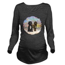 OceanSunrise-Two PWD Long Sleeve Maternity T-Shirt