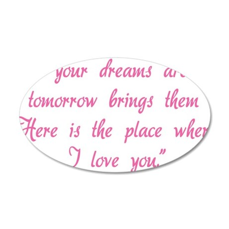 hg614 35x21 Oval Wall Decal