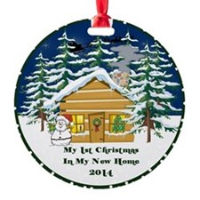 2014 My 1St Christmas Cute Cabin Ornament