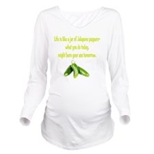 Jalapeno_burn_whgt Long Sleeve Maternity T-Shirt