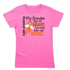D Angel 2 Grandpa Leukemia Girl's Tee