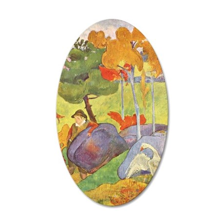 Rural France, Gauguin 35x21 Oval Wall Decal