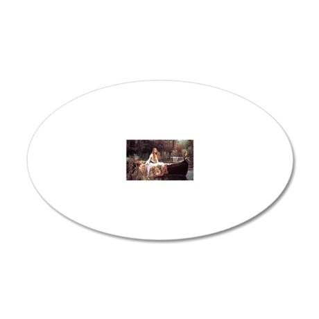 Lady of Shalott 20x12 Oval Wall Decal