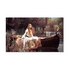 Lady of Shalott Rectangle Car Magnet