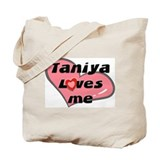 taniya loves me Tote Bag