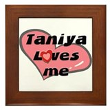 taniya loves me  Framed Tile