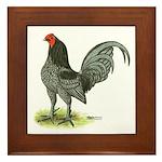 Blue OE Cock Framed Tile