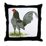 Blue OE Cock Throw Pillow