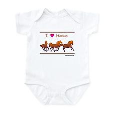 I Love Horses Infant Bodysuit