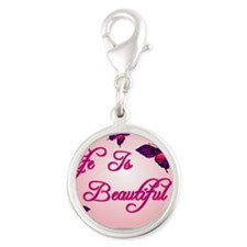 life_is_beautiful_postcard-p23 Silver Round Charm