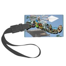 14x10_greetingsfromestelline Large Luggage Tag