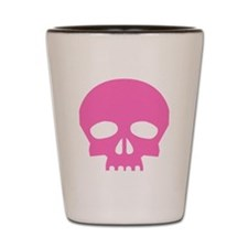 Pink Skulls Shot Glass